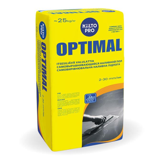 Kiilto Optimal.  Самовыравнивающийся наливной пол 25 кг.