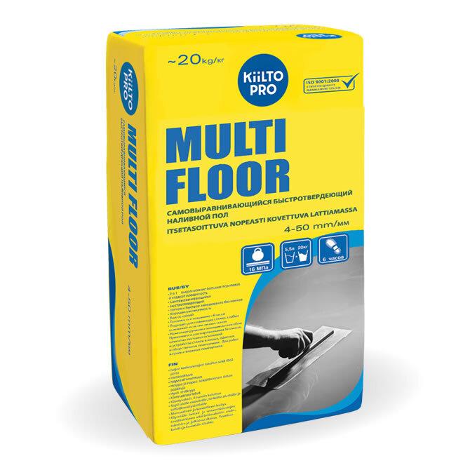 Kiilto Multi Floor.  Самовыравнивающийся наливной пол 20 кг.