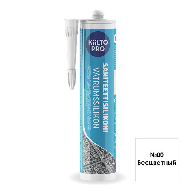 Kiilto Saniteettisilikoni 00.  Санитарный силиконовый герметик. Бесцветный.