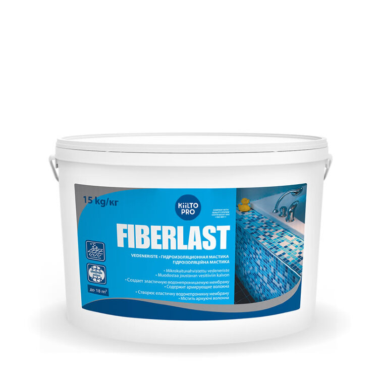 Kiilto FiberLast. Гидроизоляционная мастика 15 кг.