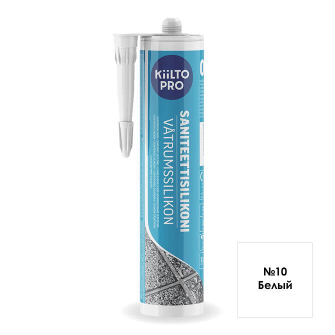 Kiilto Saniteettisilikoni 10.  Санитарный силиконовый герметик. Белый.