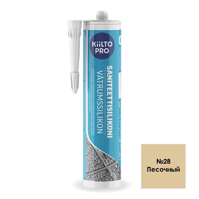 Kiilto Saniteettisilikoni 28.  Санитарный силиконовый герметик. Песочный.
