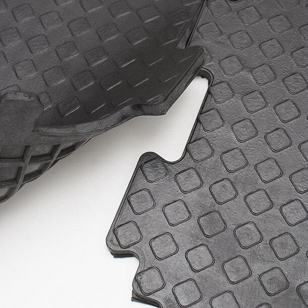 Резиновая плитка для гаража СпецПол, 11 мм