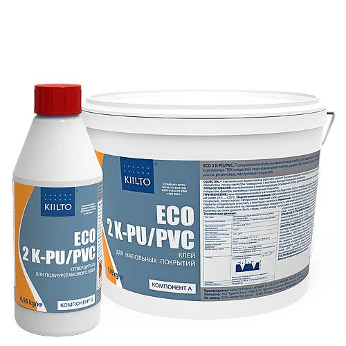 Kiilto ECO 2K PU/PVC. Двухкомпонентный полиуретановый клей. 6 кг.