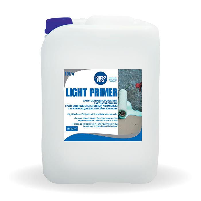Kiilto Light Primer.  Воднодисперcионный акриловый грунт 10 л.