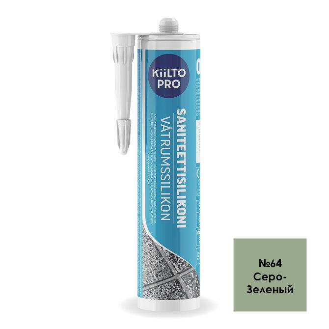Kiilto Saniteettisilikoni 64.  Санитарный силиконовый герметик. Серо-Зеленый.