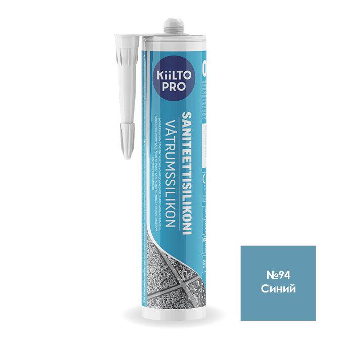 Kiilto Saniteettisilikoni 94.  Санитарный силиконовый герметик. Синий.