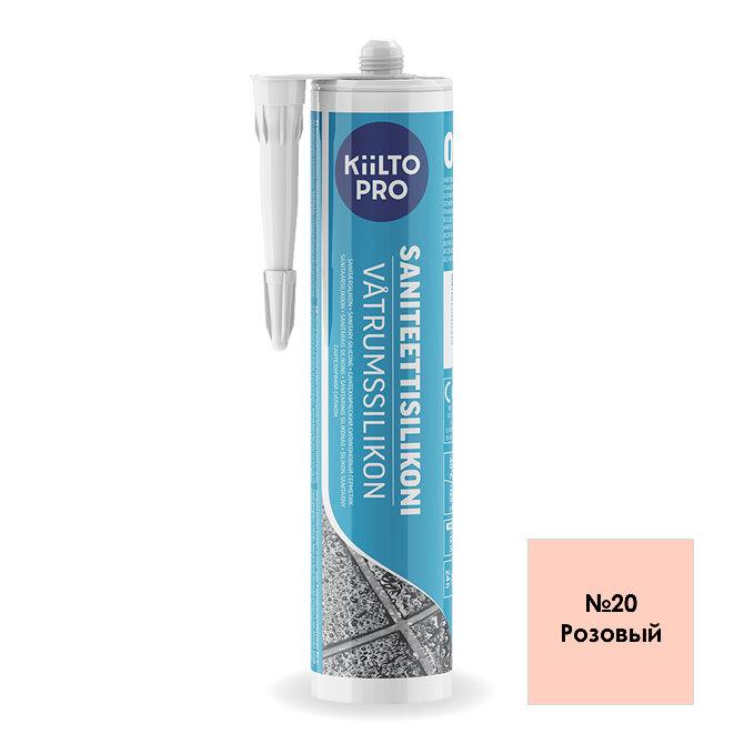 Kiilto Saniteettisilikoni 20.  Санитарный силиконовый герметик. Розовый.