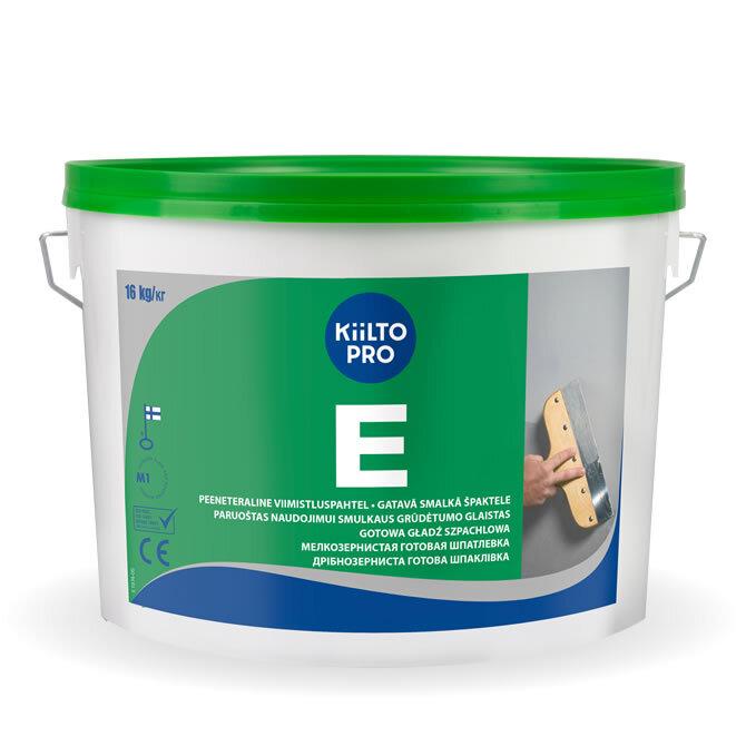 Kiilto E.  Мелкозернистая готовая шпатлевка 10 л / 16 кг.