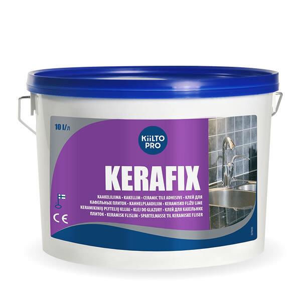 Kiilto Kerafix. Клей для кафельной плитки 10 л.