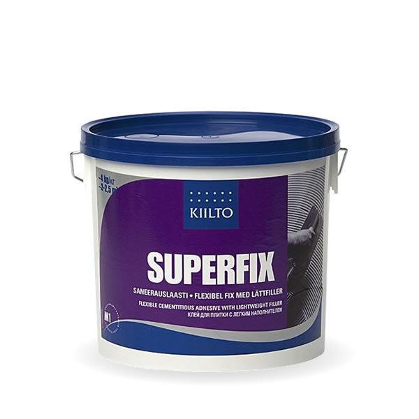 Kiilto Superfix DF. Белый плиточный клей.