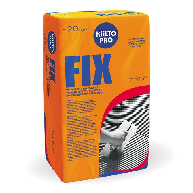Kiilto Fix. Усиленный клей для плитки.