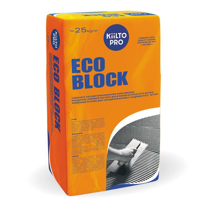 Kiilto Eco Block. Раствор для блоков из ячеистого бетона 25 кг.