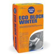 Kiilto Eco Block Winter. Раствор для блоков из ячеистого бетона 25 кг.