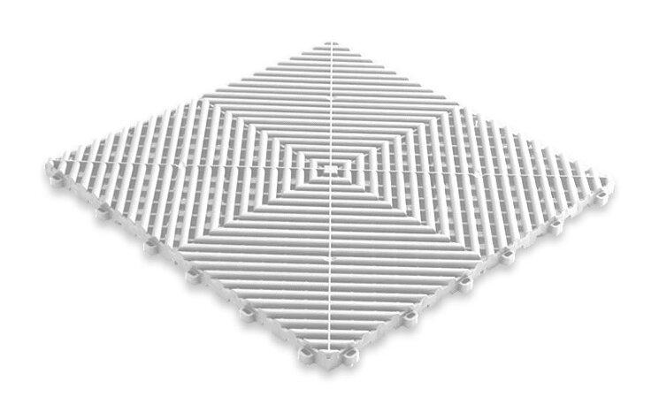 Пластиковая уличная модульная плитка Plasto Rip, белая
