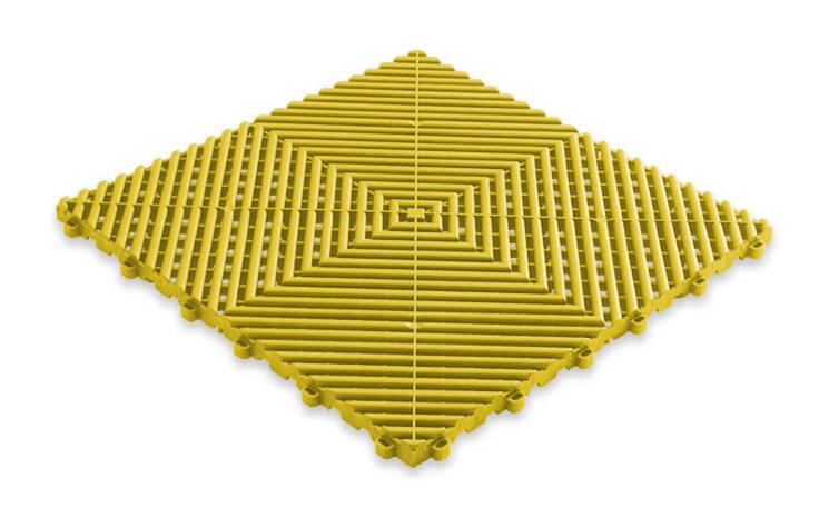 Пластиковая уличная модульная плитка Plasto Rip, жёлтая