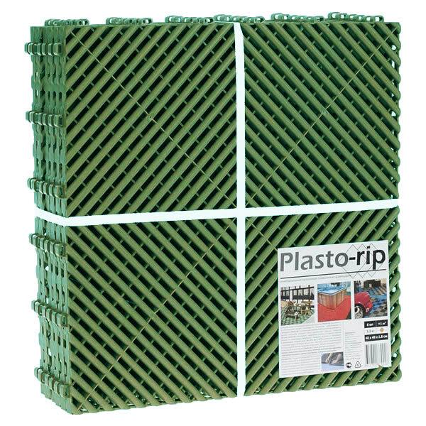 Пластиковая уличная модульная плитка Plasto Rip, зеленая