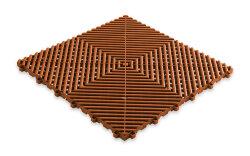 Пластиковая уличная модульная плитка Plasto Rip, коричневая