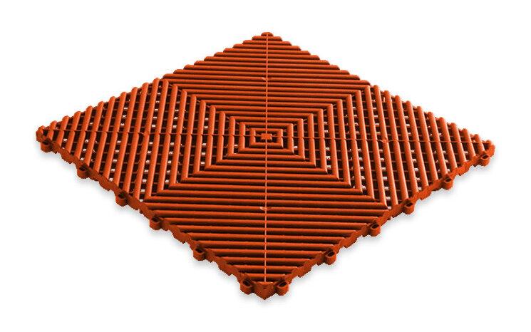 Пластиковая уличная модульная плитка Plasto Rip, оранжевая