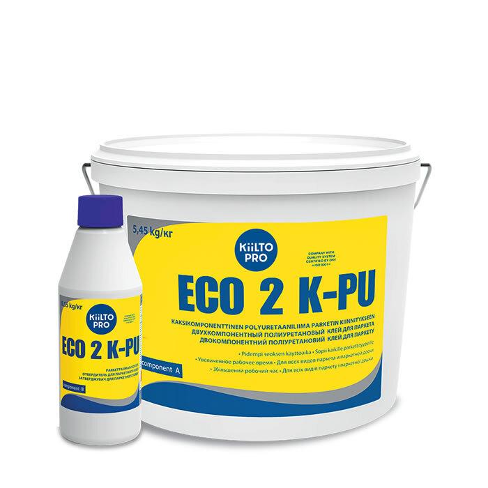 Kiilto Eco 2K PU.  Полиуретановый клей для паркета.