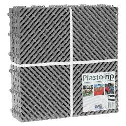 Пластиковая уличная модульная плитка Plasto Rip, серая