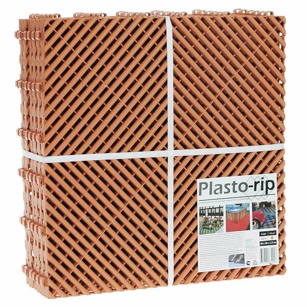 Пластиковая уличная модульная плитка Plasto Rip, терракотовая