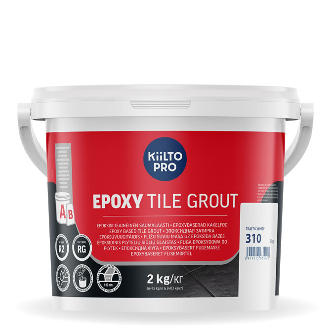 Kiilto Epoxy Tile Grout. Эпоксидная затирка. 310 Traffic White.
