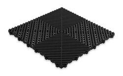 Пластиковая уличная модульная плитка Plasto Rip, чёрная