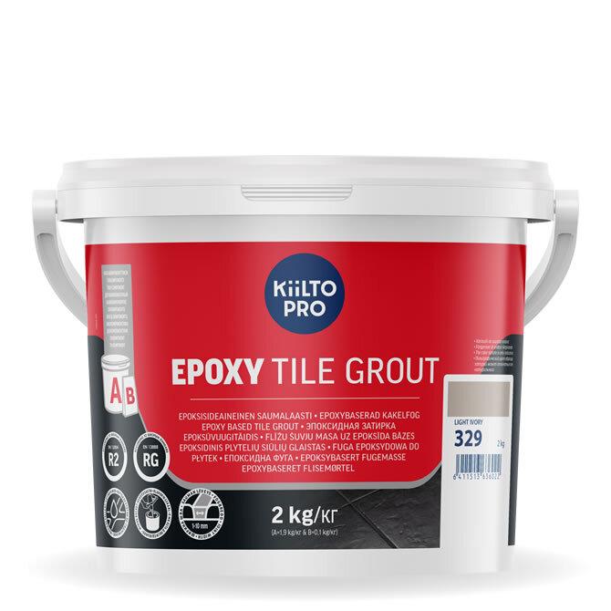 Kiilto Epoxy Tile Grout. Эпоксидная затирка. 329 Light Ivory.