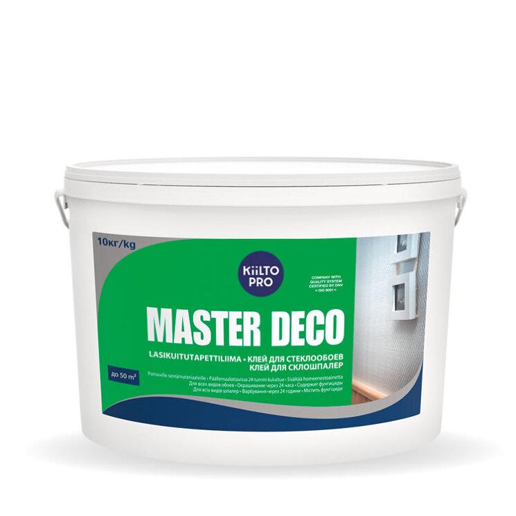 Kiilto Master Deco. Готовый клей для всех видов обоев 10кг.