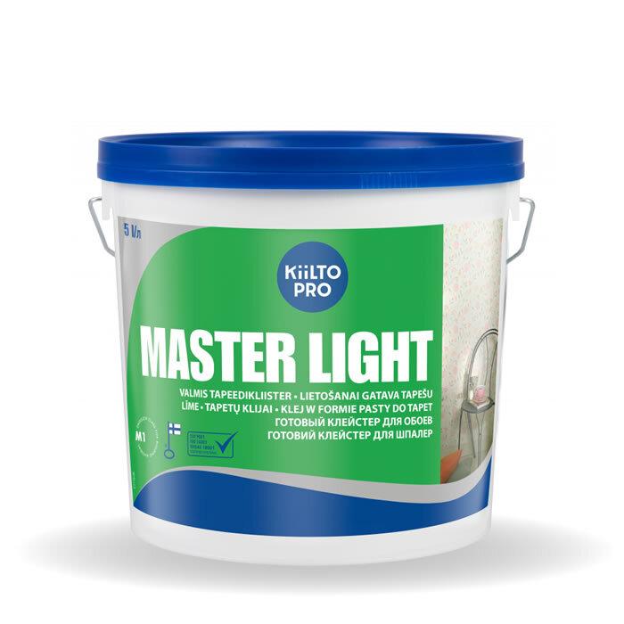Kiilto Master Light. Клей для обоев из бумаги и винила 5л.