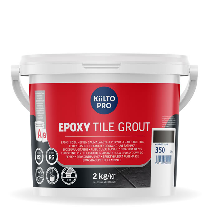 Kiilto Epoxy Tile Grout. Эпоксидная затирка. 350 Graphite Grey.