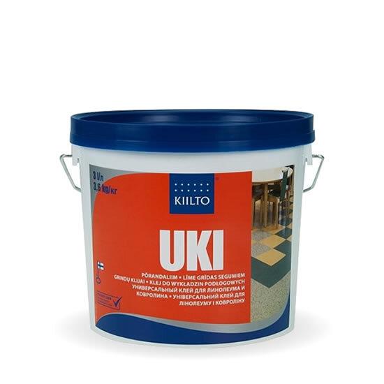 Kiilto Uki. Клей для линолеума и ковролина 4 кг.