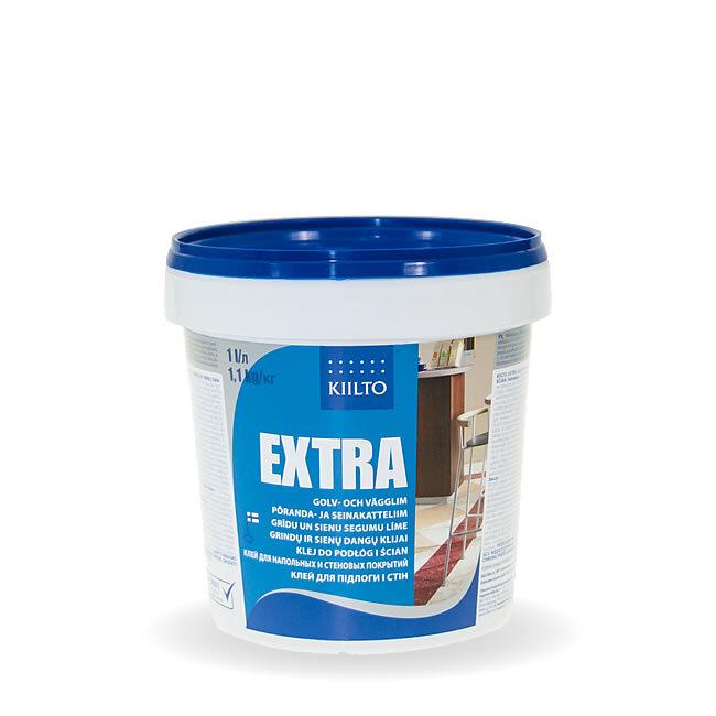 Kiilto Extra. Клей для напольных и стеновых покрытий 1 кг.