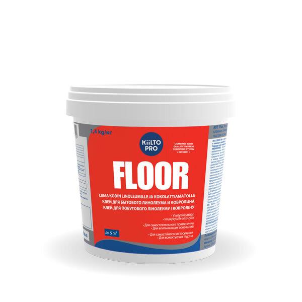 Kiilto Floor.  Клей для бытового линолеума и ковролина 1,4 кг.